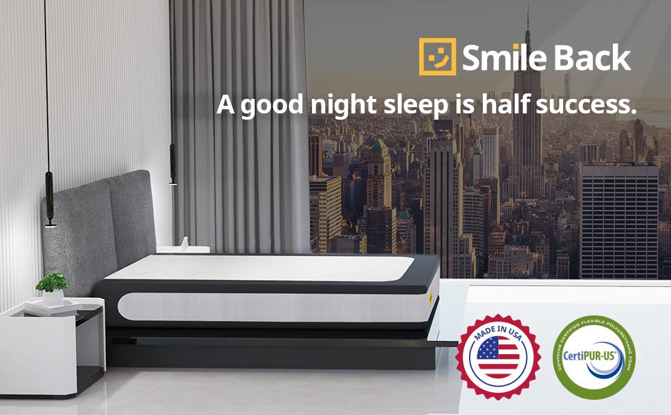 smile back mattress memory foam mattress