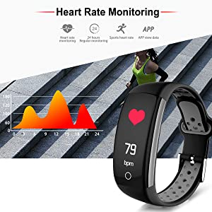heart rate monitor fitness tracker HR