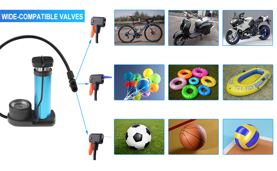 The extra gas needles help to pump sports ball,basketball,balloons,inflating toys etc.