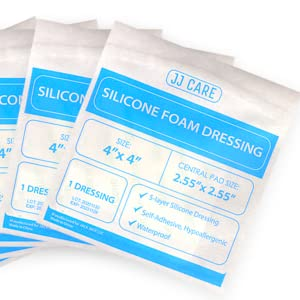 silicone foam dressings 4x4 inches