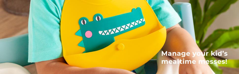 VIIDA, joy zoo bibs, kids bibs, baby bibs, food-grade silicone, BPA-free, children bibs, Lead-free