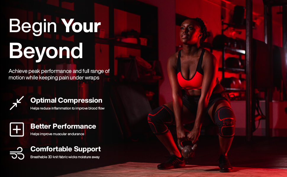 Uflex Athletics Compression Knee Sleeve