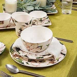 bico magnolia floral dinnerware set