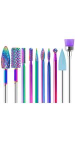 10pcs nail drill bits