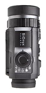 aurora black night vision monocular camera for hunting mil-sim airsoft vertical product shot