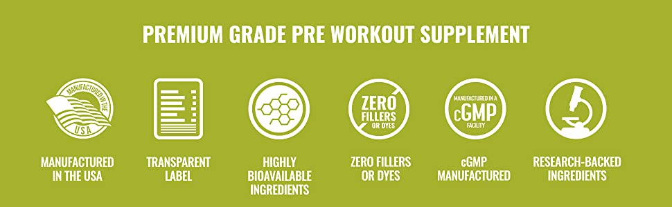 Premium Grade Pre-Workout Supplement