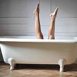 Die Anti-Rutsch Beschichtung der Wohndirect Badematten sorgt für einen rutschfreien Ausstieg