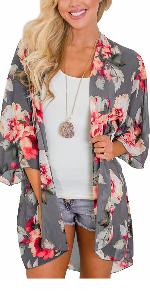 summer floral kimono jacket