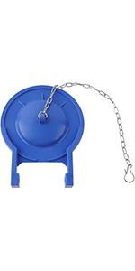 blue toilet flapper