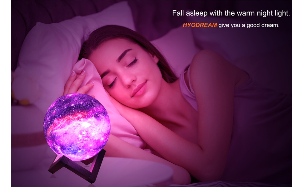 fall asleep with moon lamp