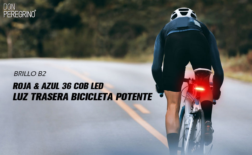 DONPEREGRINO B2-110 Lúmenes Luz Trasera Bicicleta Potente LED en ...