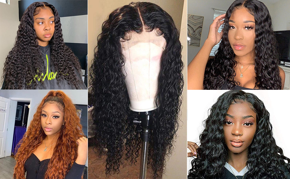 lace front human hair wigs pre plucked for black women can be dyed and blanced knots