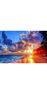 16/'/' x 16/'/' Sunset Shining Home Wall Decor Gift Perkisboby DIY 5D Diamond Painting Kits Full Round Drill Crystal Embroidery Arts Craft Canvas for Kids Adults