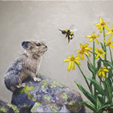 a pika and a bumblebee