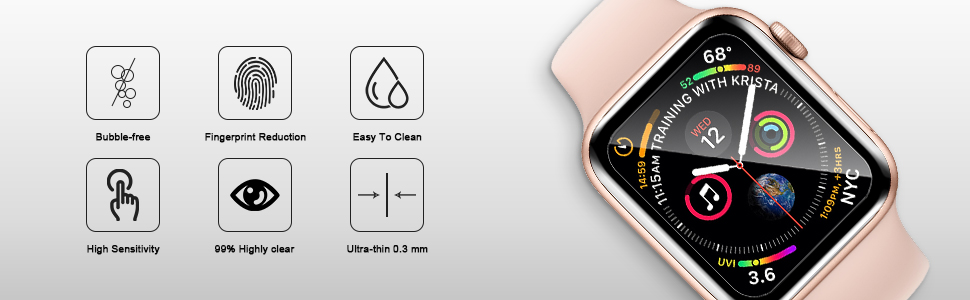 Bubble-free Fingerprint Reduction Easy to Clean High Sensitivity 99% Highly olear Ultra-thin 0.3mm