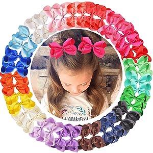 20 pairs hair bows clips