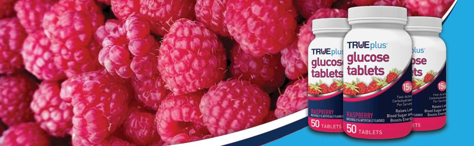 trueplus glucose tablets raspberry sugar pills true plus diabetic supplement