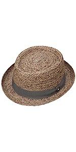 Pork pie porkpie raffia straw hat summer sun women men italy