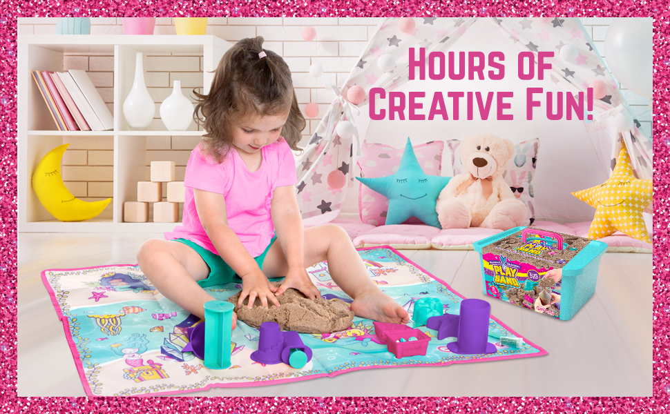 Play Sand, Kinetic Sand, Magic Sand, Gifts for Girls, Arts and Crafts for Kids