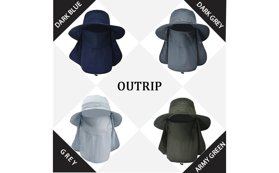 Fishing Hat for Men & Women Blue Grey Dark blue Army greey