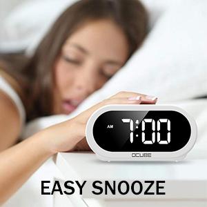 alarm clocks bedside mains powered