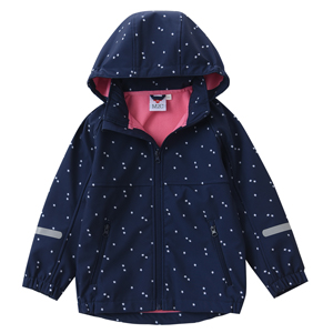 M2C Girls Fleece Lined Softshell Hoodie Jacket Windproof Coat