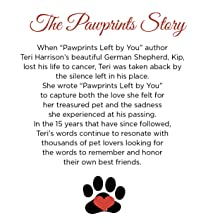 Pawprints Left by You poem, pawprints gifts, pet wind chime