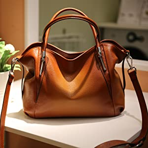 Women's Leather Handbag Shoulder Bags Work Tote Bag Top Handle Bag Ladies Designer Purses Satchel
