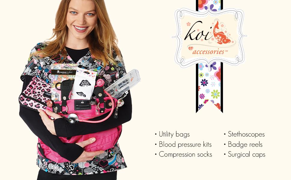 koi scrubs accessories medical healthcare uniforms fashion