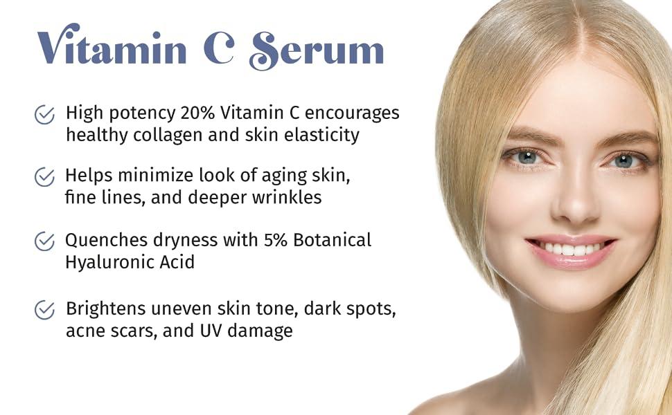 vitamin c serum, collagen, skin elasticity