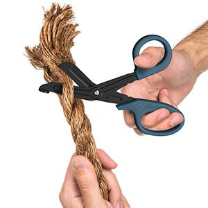 scissors cutting rope