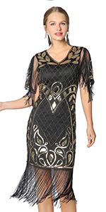 Metme  Gatsby Flapper Cocktail Dress