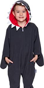 kids children ocean shark costume pajama halloween one piece cosplay