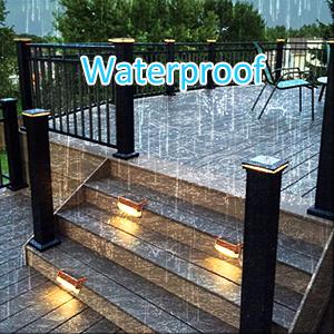 solar fence lights waterproof