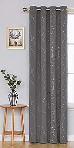 Black blackout curtains for bedroom grommet curtains for living room