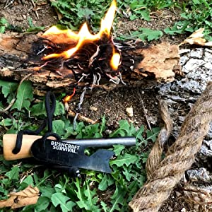 ferro rod jute tinder fire starting kit bushcraft survival gifts ferro rod