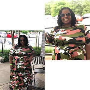Army green camo maxi dresses