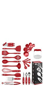 24 Piece Silicone Cooking Utensils