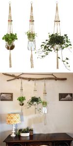 Jute Macrame Plant Hangers Set Hanging Planter