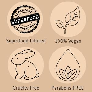 Superfood Infused 100% vegan Parabens free