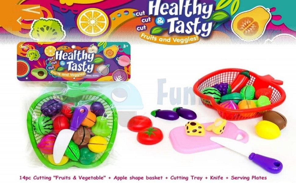 realistic sliceable cutting fruits and vegetables play toy set sliceable fruits and vegetables