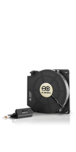 AC Infinity MULTIFAN S2 Quiet 120mm AC-Powered Fan Receiver DVR Playstation Xbox Component Cooling