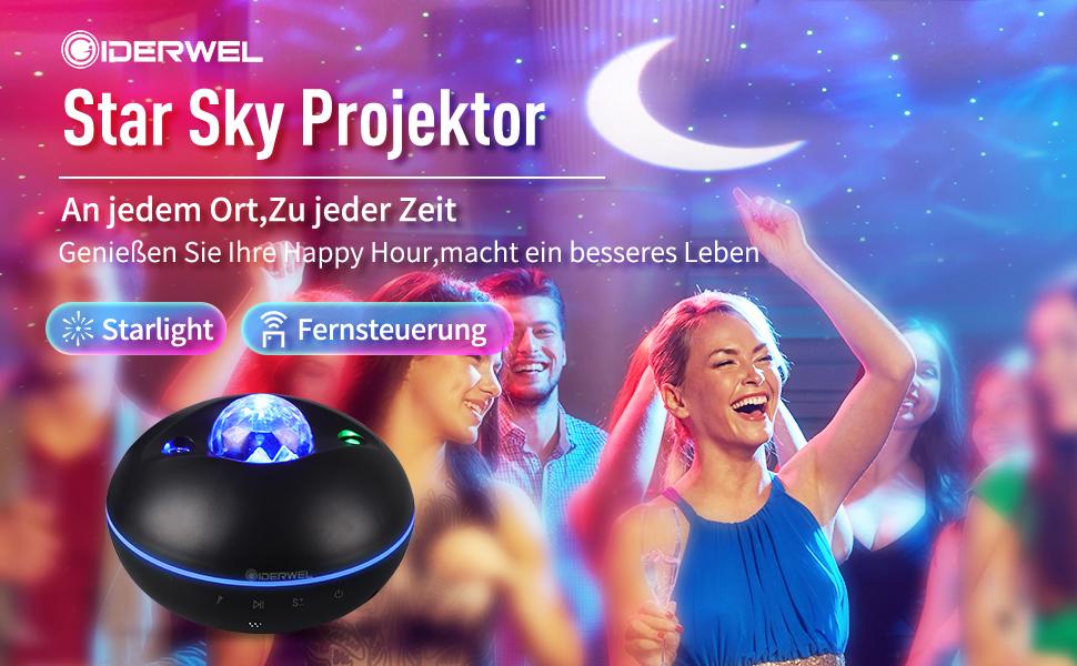 Bluetooth Music Starry Projektorlicht