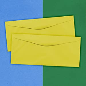 yellow #9 business colored envelope