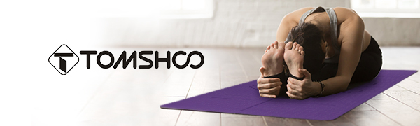 Yoga mat - The TOMSHOO Basic is very non-slip and offers absolute grip even in dynamic flows.