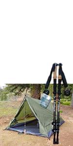trekker tent 2.2 combo pack trekking poles tent camping hiking outdoors coleman outside waterproof