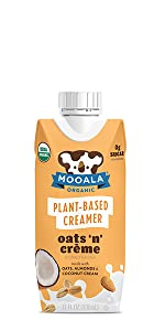 Dairy-free, non-gmo, plant-based, coffee creamer