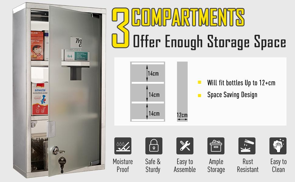3 compartments
