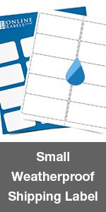 small weatherproof shipping label