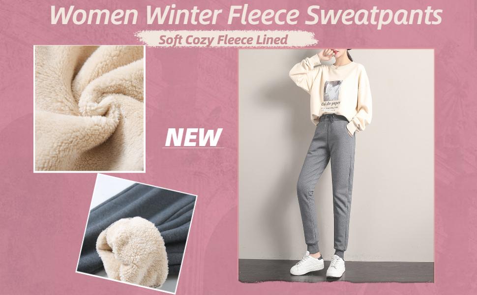 Women fleece pants